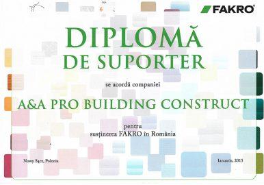 DIPLOMA DE SUPORTER FAKRO
